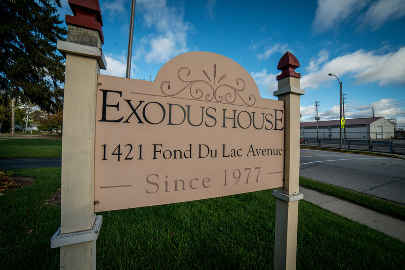 Street sign for Exodus House